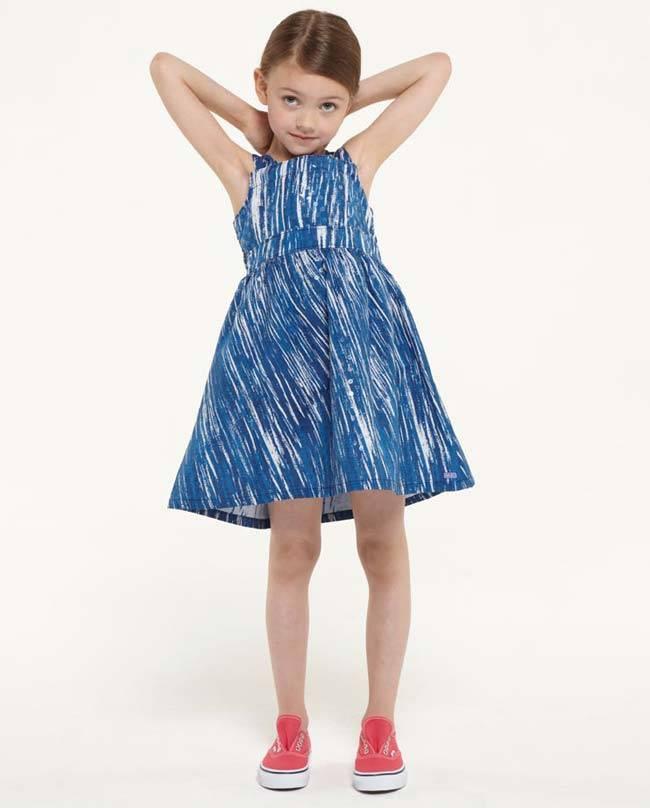 kenzo girls blue striped dress summer 2015