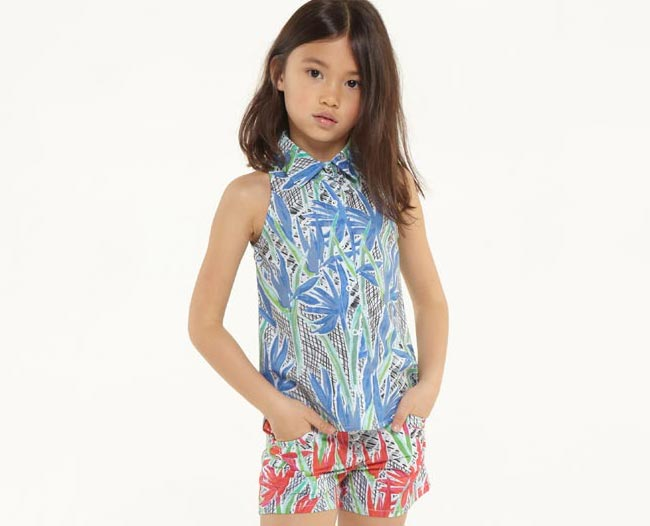 kenzo girls jungle outfit ss15