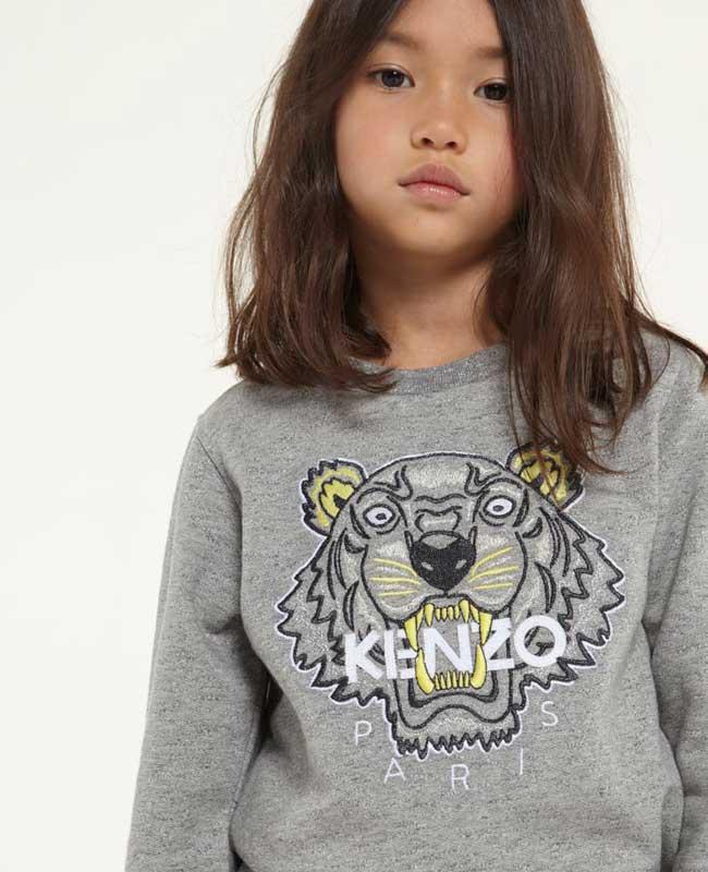 kenzo girls tiger sweatshirt ss15
