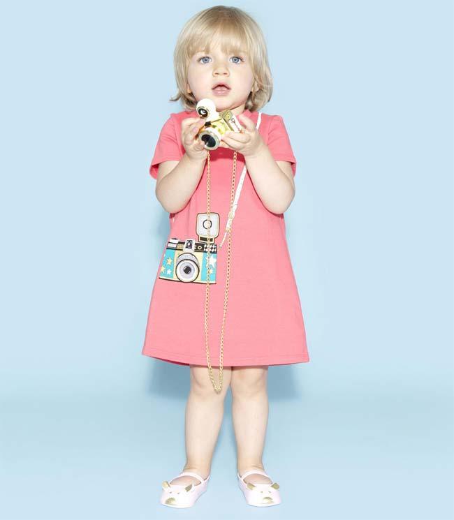 little marc jacobs spring summer 2015 baby girl camera dress