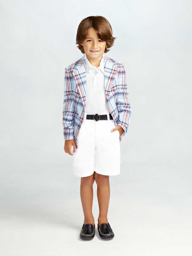 oscar de la renta boys print blazer ss15