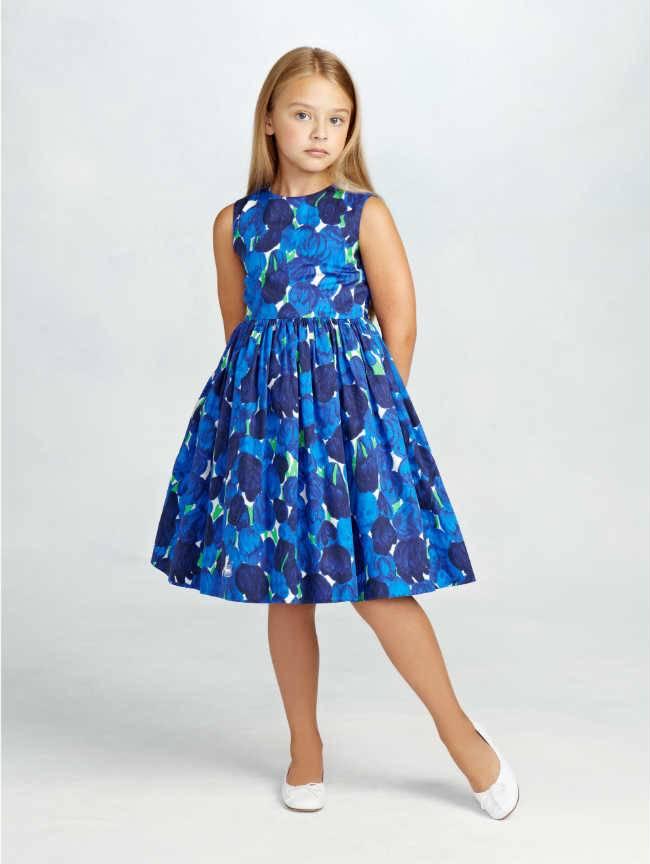 oscar de la renta girls TULIP COTTON PARTY DRESS