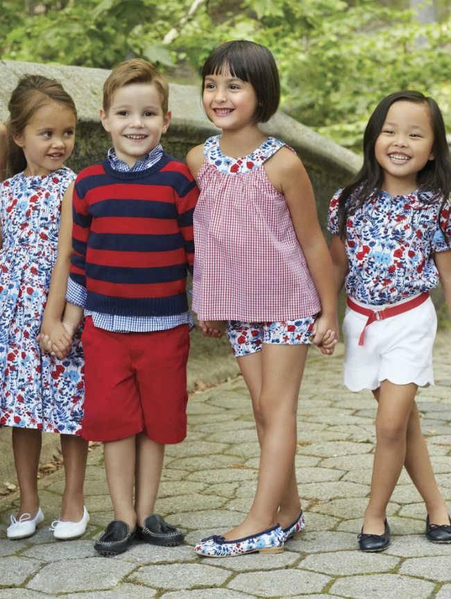 oscar de la renta kids ss15 red white blue colors