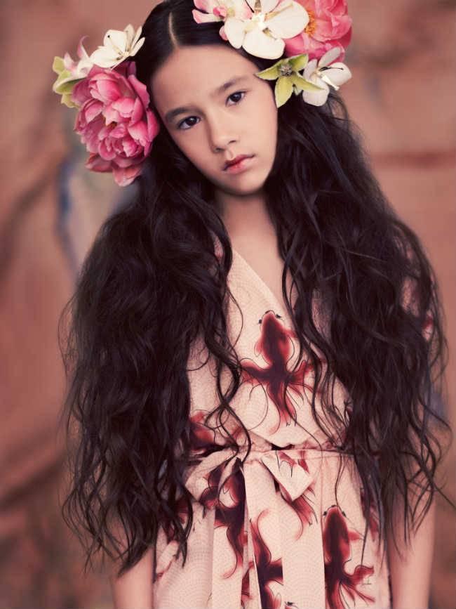 pale cloud girls flower dress ss15
