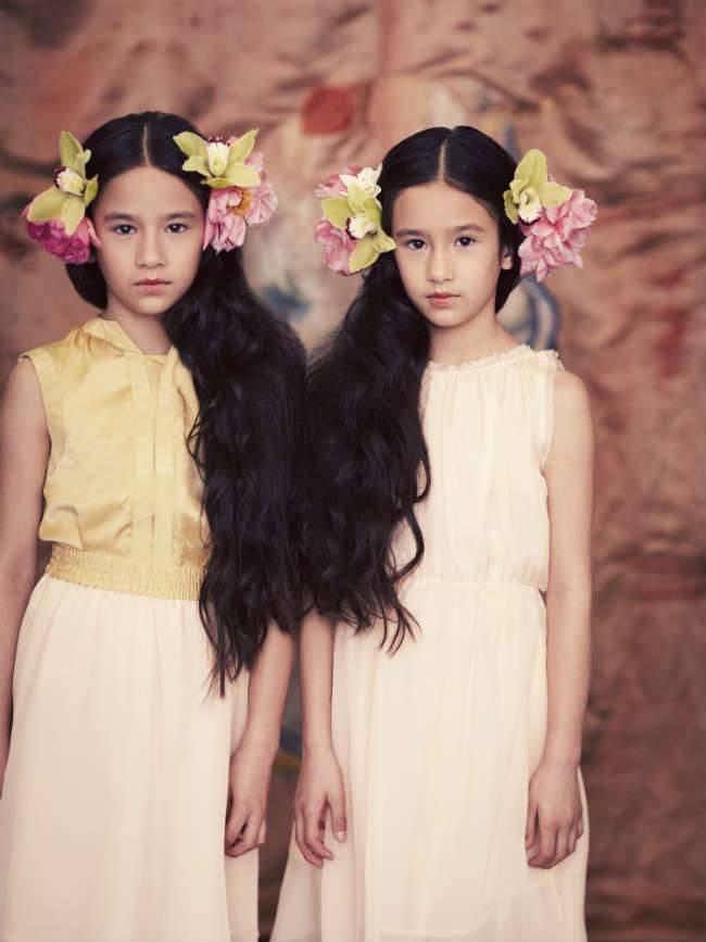 pale cloud girls ss15 silk dresses