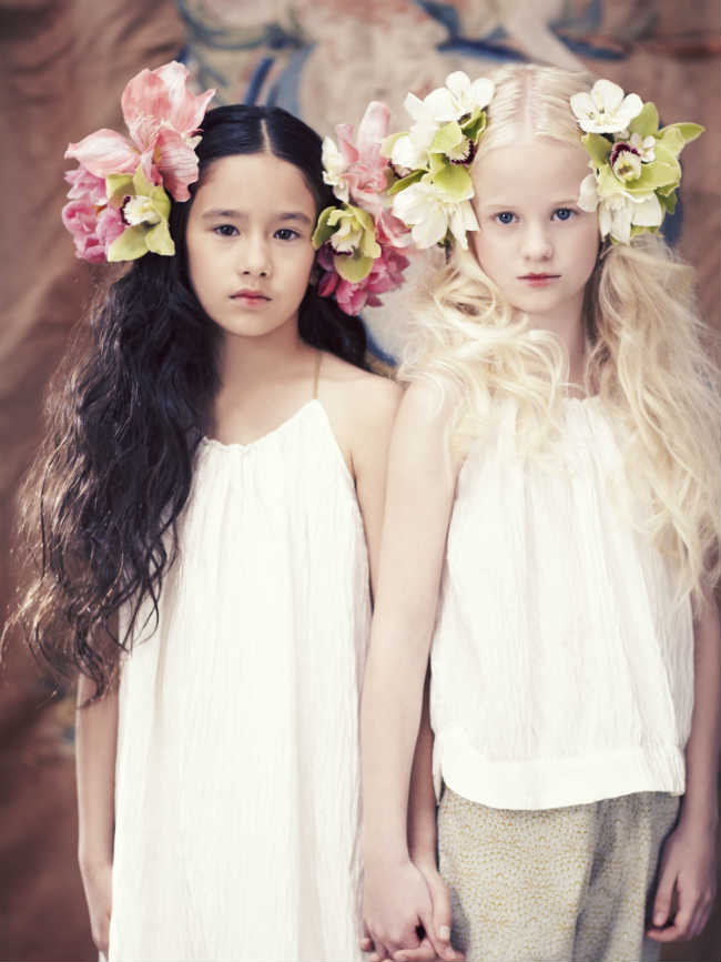 pale cloud girls ss15 white dress