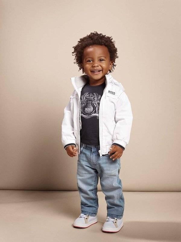 boss kidswear baby boy white jacket ss15