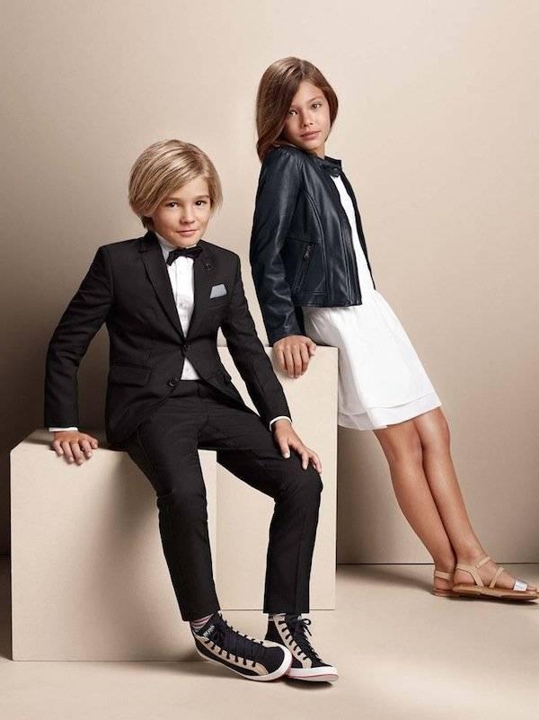 hugo kidswear boys ss15 suit girl leather jacket