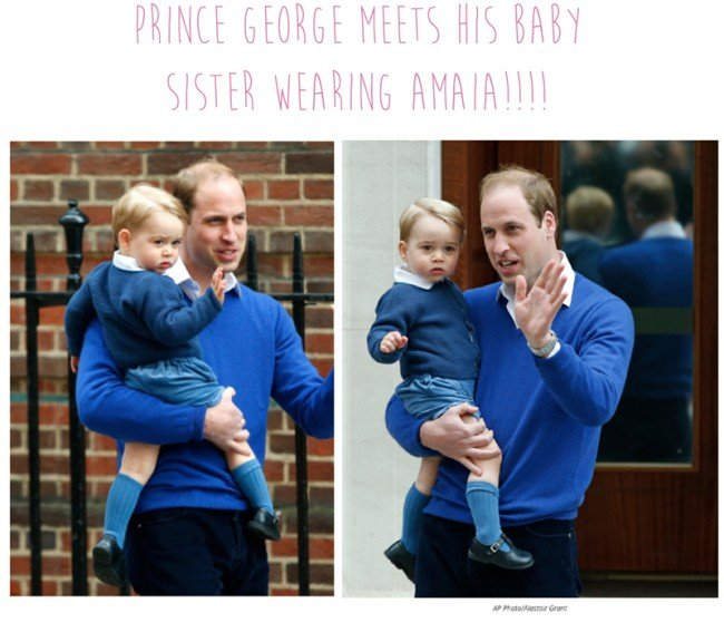 Prince George Meets Baby Sister Wearing Amaia