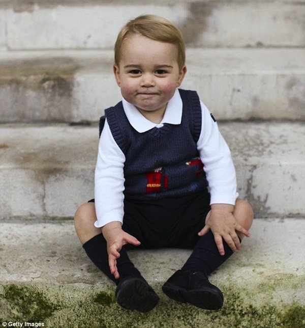 Prince George Christmas Photo 2014