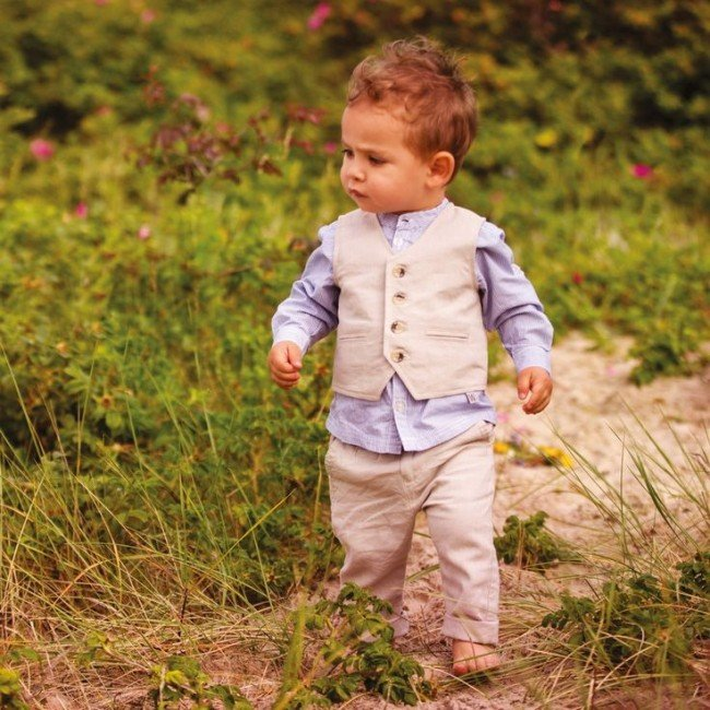 Wheat Baby Boys Linen Suit Spring Summer 2015