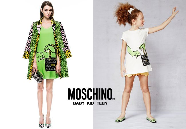 Moschino Cheap & Chic Spring Summer 2015 Girls Monster Purse Dress