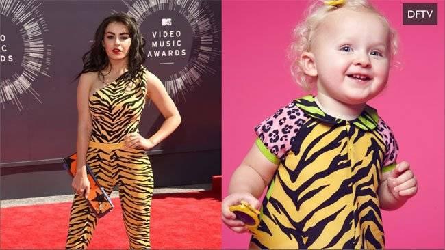 Charli XCX  2014 MTV Awards Wearing Moschino Flintstones Bodysuit