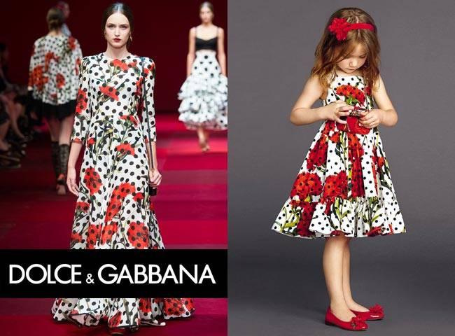 Dolce & Gabbana Milan Fashion Week Girls Spring Summer 2015 Mini Me Carnation Dress