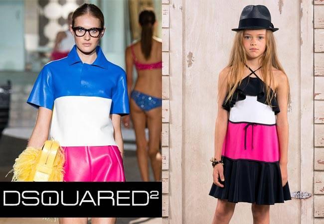 Dsquared2 Milan Fashion Week Spring Summer 2015 Girls Mini Me Look