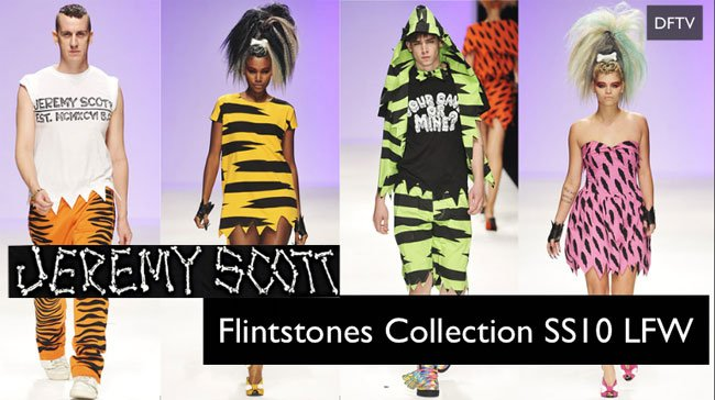 Jeremy Scott Flintstones Spring Summer 2010 Collection at London Fashion Week