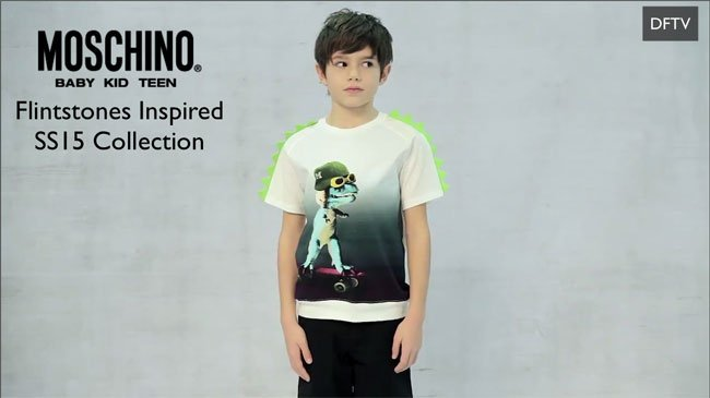 Moschino Boys Dinosaur Flintstones Shirt