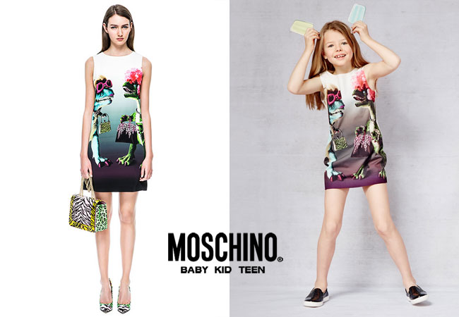 Moschino Cheap & Chic Spring Summer 2015 Girls Jurassic Park Dinosaur Dress