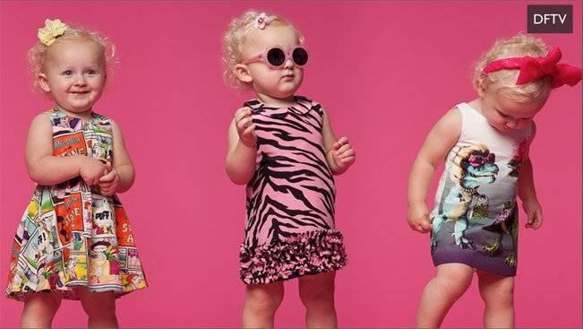 Moschino Flintstones Baby Girl Dresses Spring Summer 2015
