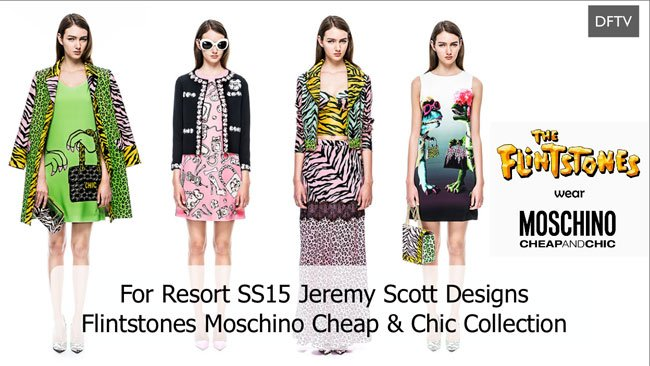 Moschino Flintstones Spring Summer 2015 Women's Resort Collection