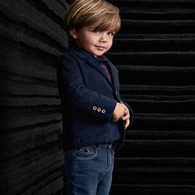 BOSS Baby Boys Blue Velvet Corduroy Blazer