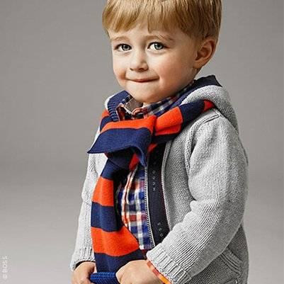 Boss Baby Boys Grey Knitted Cardigan