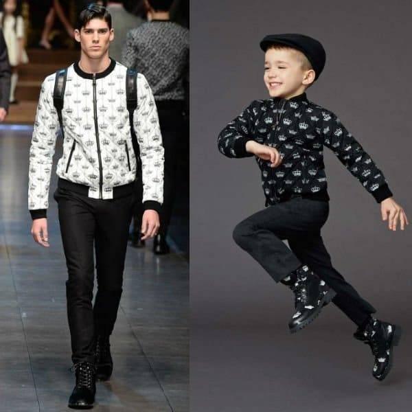 Dolce & Gabbana Boys Mini Me Crown Bee Jacket