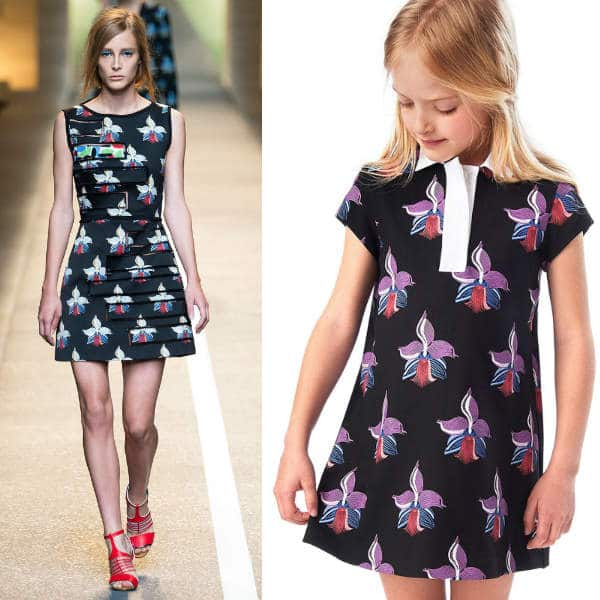 Fendi Girls Orchid Mini Me Dress Fall Winter 2015