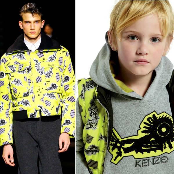 Kenzo Mens Yellow Print Jacket