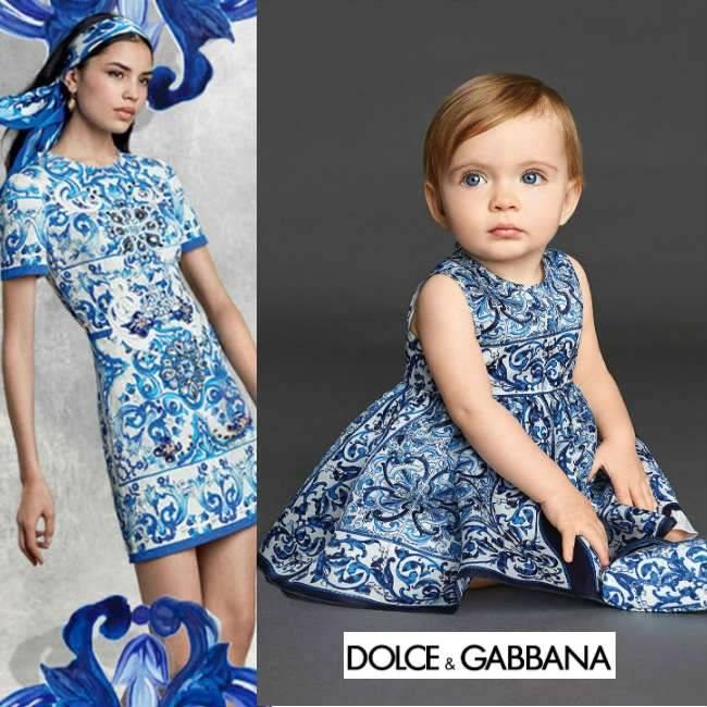 Dolce Gabbana Baby Majolica Brocade Dress