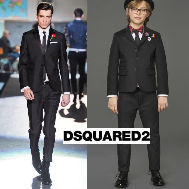 Dsquared2 Boys Black Poplin Suit