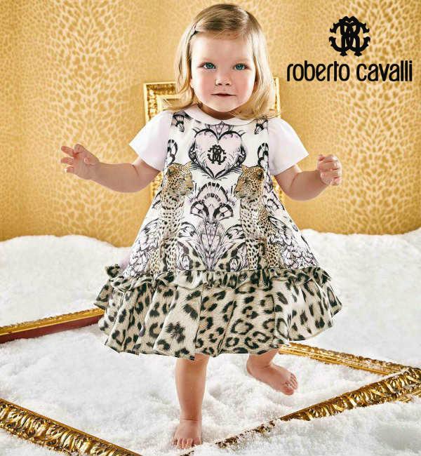 3a94a46a46 Roberto Cavalli Baby Girls Leopard Print Silk Dress