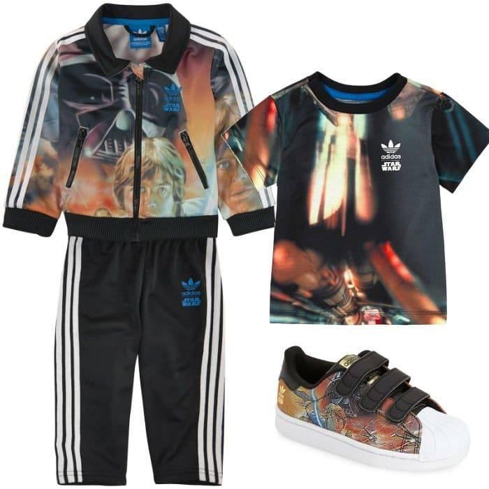ADIDAS ORIGINALS Star Wars Sweatshirt & Tracksuit Pants, Shirt & Shoes