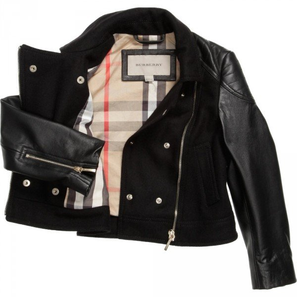 BURBERRY Wool and Leather Jacket