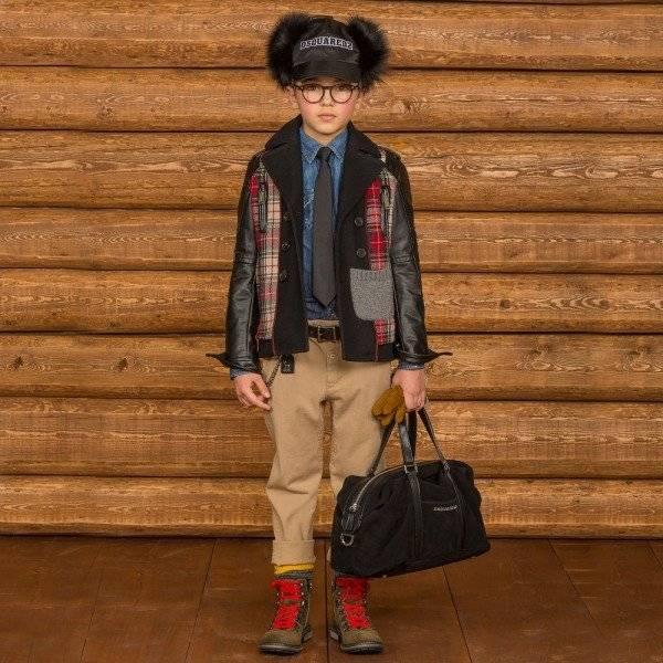 DSQUARED2 Boys Red Tartan Wool Jacket