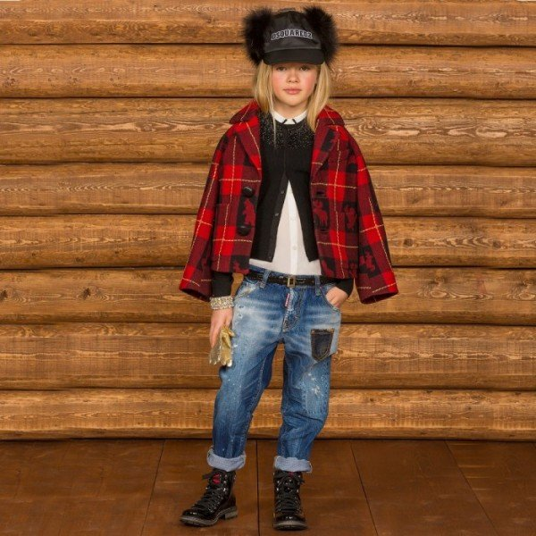 DSQUARED2 Red Check Wool Jacket