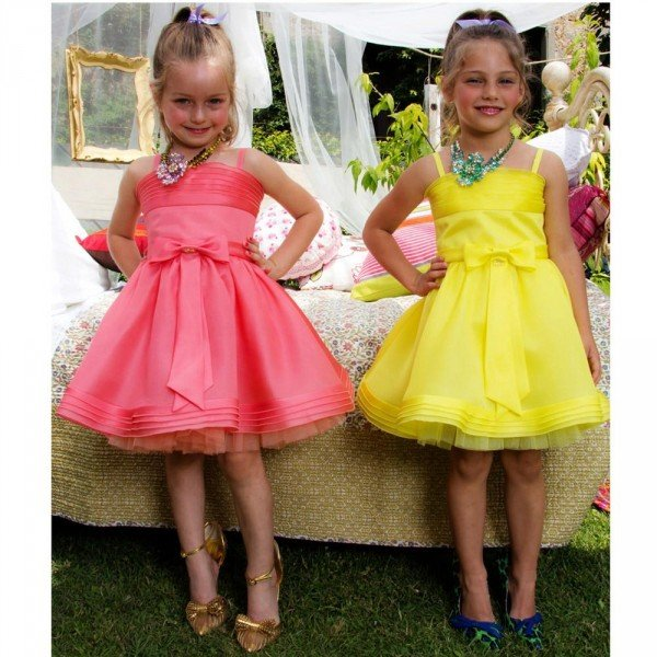 DSQUARED2 Yellow & Pink Silk Dress