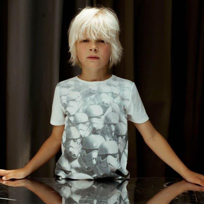 IKKS Boys White 'Star Wars' Cotton Jersey T-Shirt