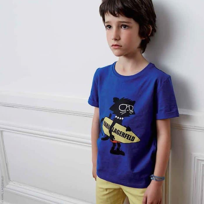 KARL LAGERFELD KIDS Bad Boy slub jersey T-shirt