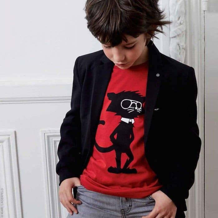 KARL LAGERFELD KIDS Bi-material suit jacket