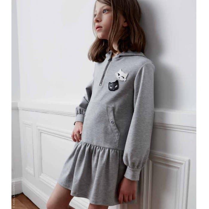KARL LAGERFELD KIDS Choupette hooded dress