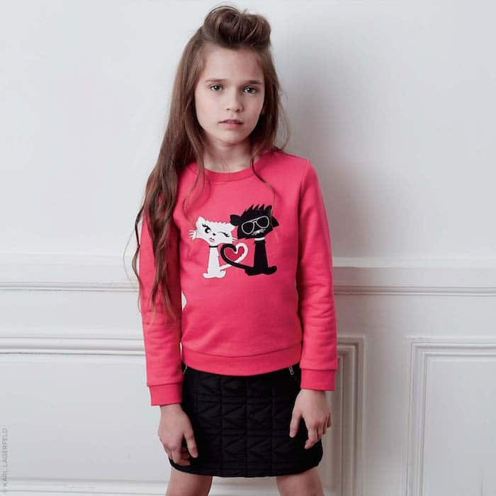 KARL LAGERFELD KIDS K quilted skirt