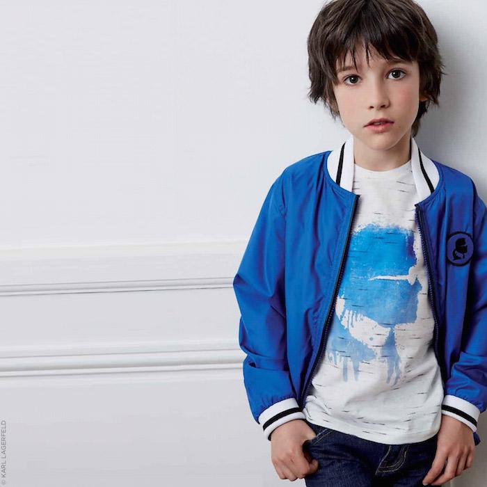 KARL LAGERFELD KIDS Karl Kameo slub jersey T-shirt