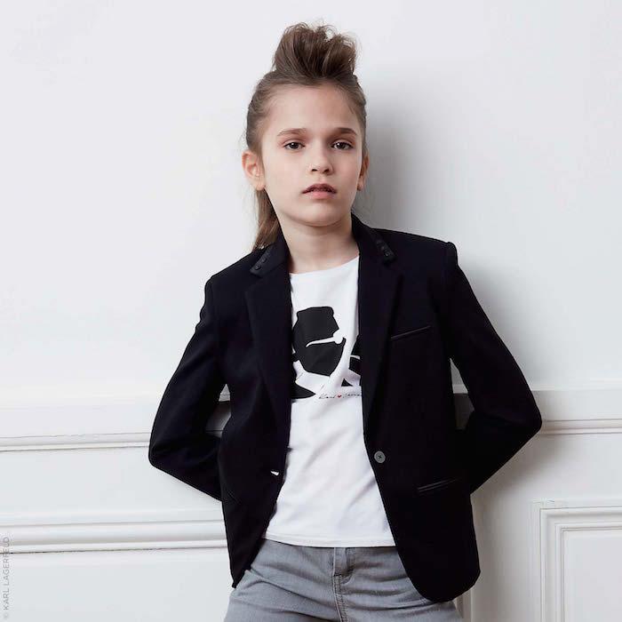 KARL LAGERFELD KIDS Karl and Choupette Mini Me Kameo T-shirt LookBook