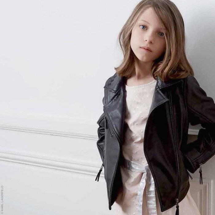 KARL LAGERFELD KIDS Leather biker jacket