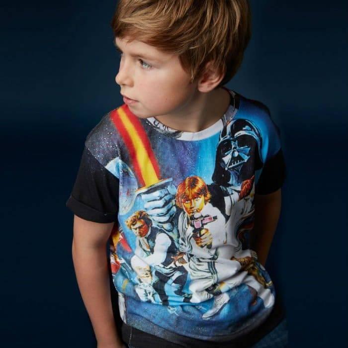 LITTLE ELEVEN PARIS 'Star Wars' Print T-Shirt