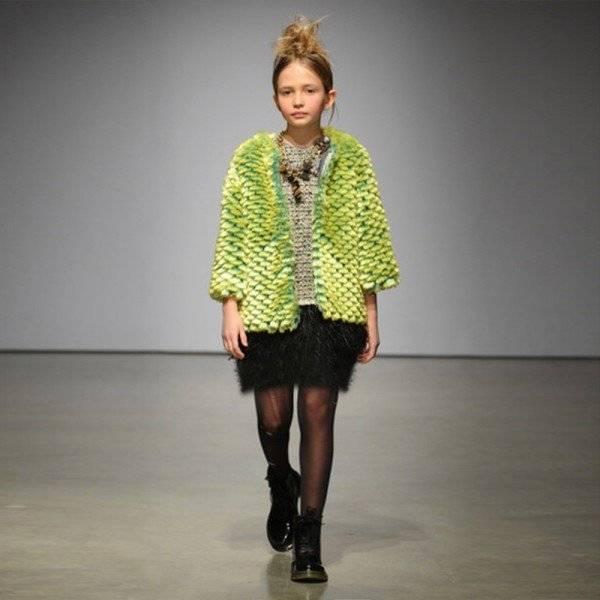 MISCHKA AOKI 'The A List' Green Fur Jacket - 70% off