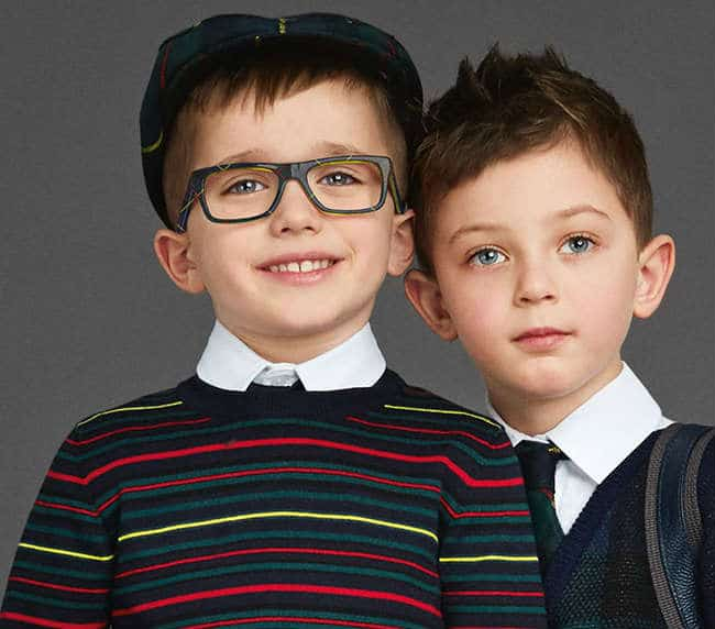 Boys Squared Blue Green Yellow Glasses - 3205 2989