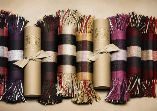 Burberry Fringe Scarf in Soft Scottish-spun Colored Cashmere