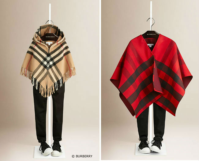 Burberry Girls Checked Cape